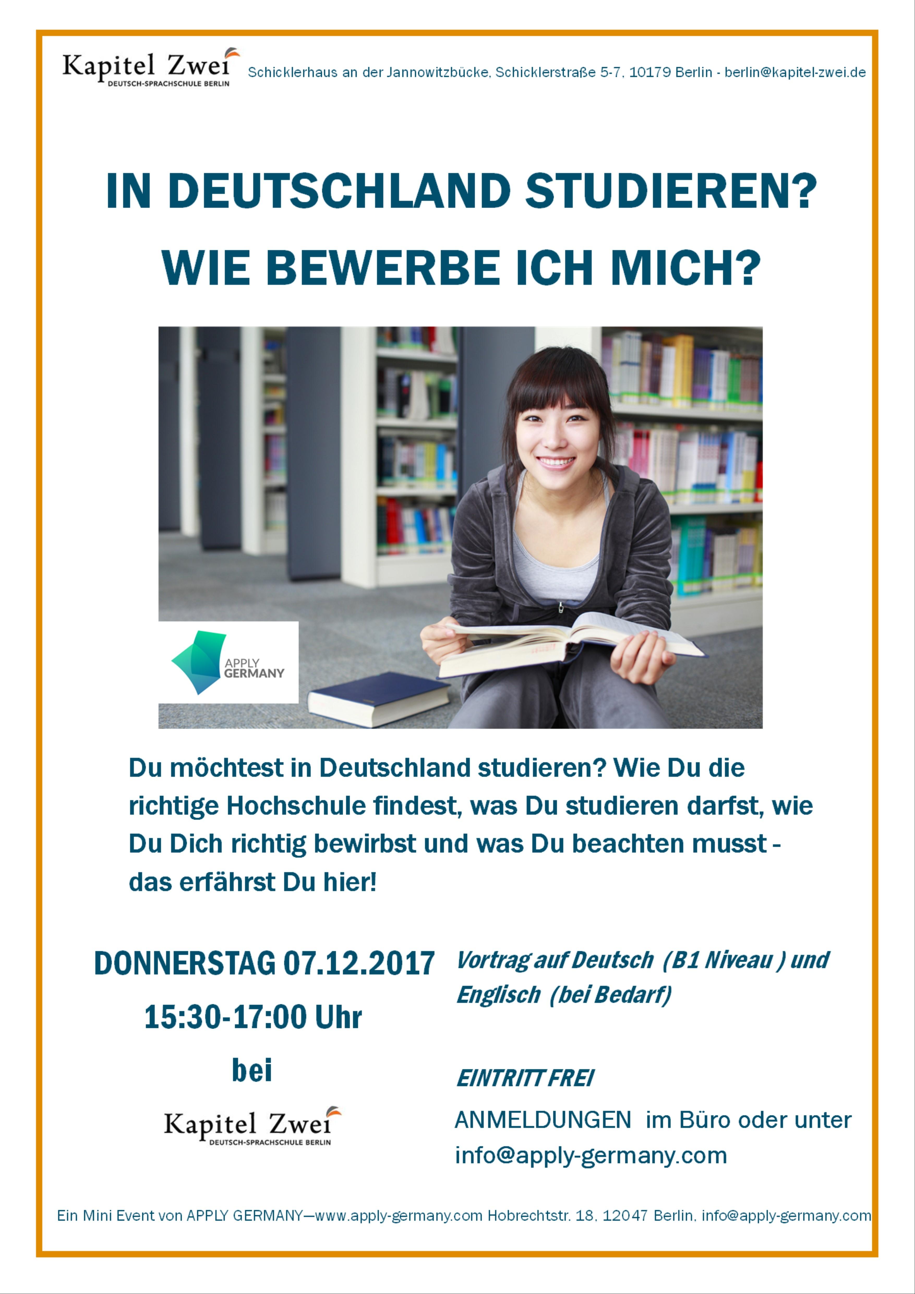 Studieren in deutschland wie bewerbe ich mich sprachschule berlin for Studieren in deutschland