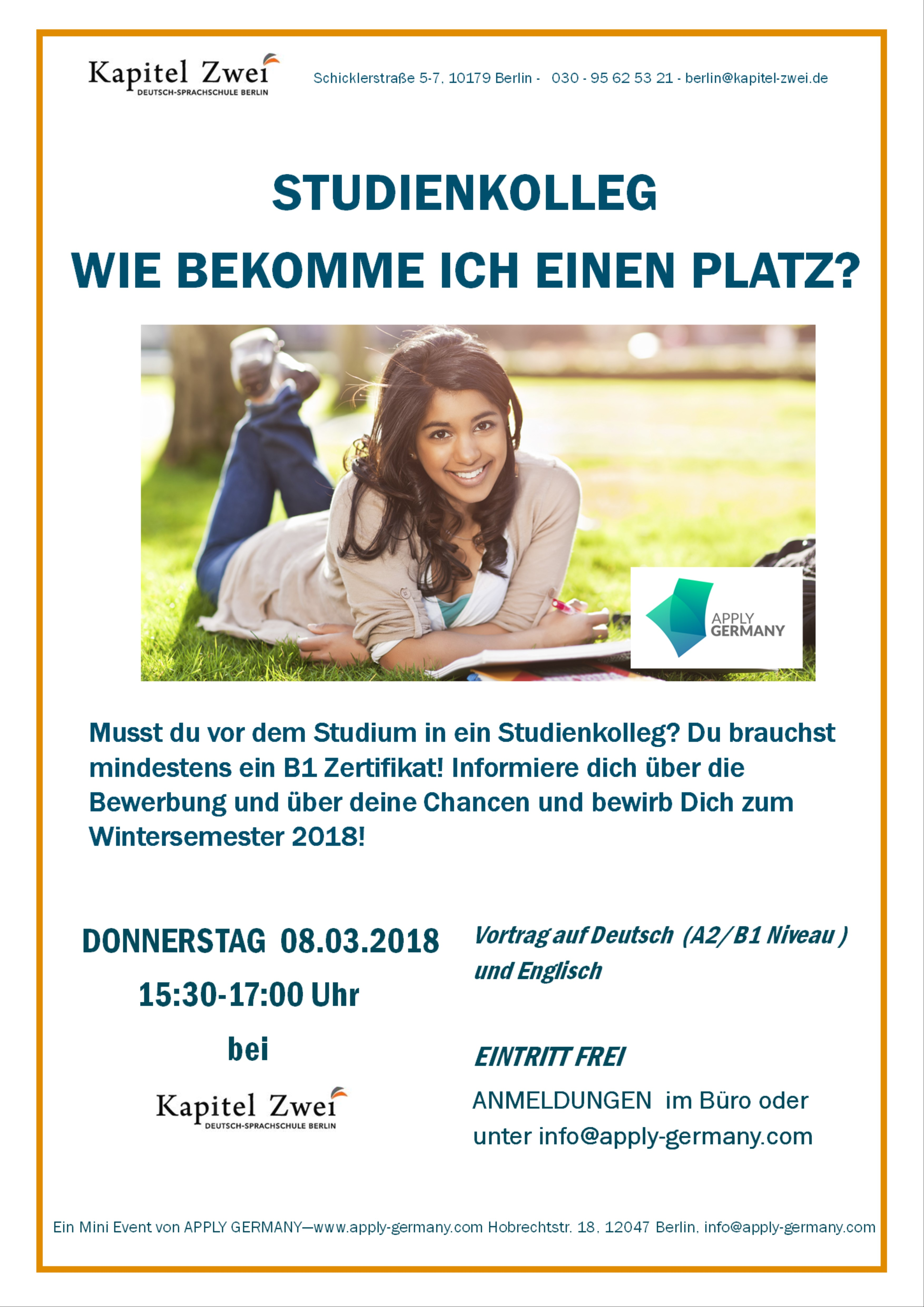 Studienkolleg Berlin Studieren Hilfe Kapitel Zwei Berlin