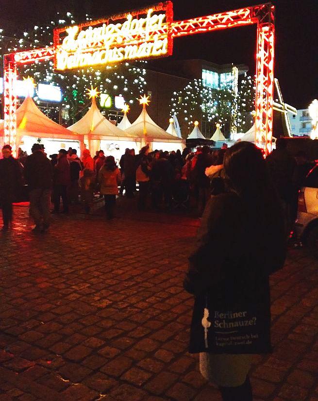 Sprachschule Deutsch Freunde finden weihnachtsmarkt Berlin