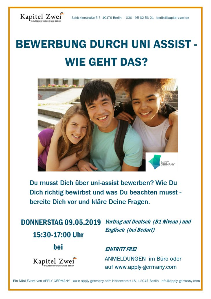 Seminar Uni Assist German Deutsch Hochschule Universität Berlin