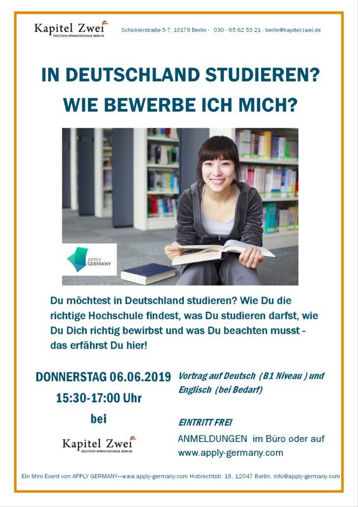 Sprachschule Deutsch Berlin Seminar Studium Bewerbung