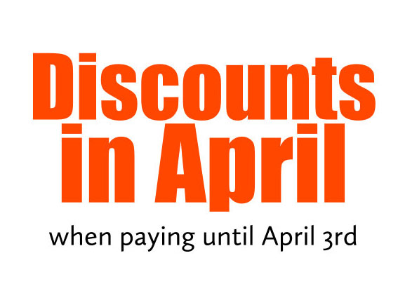 discounts in april